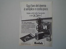 advertising Pubblicità 1964 CINEPRESA KODAK 8 MM