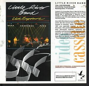 PRESS RELEASE SHEET for: Little River Band - Live Exposure VHS Video (1982) EX
