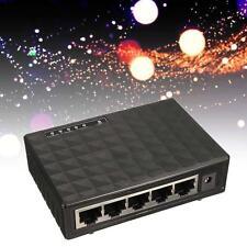 Black Gigabit Ethernet Network Switch 5 ports RJ-45 10/100M Auto-MDI/MDIX Hub LE