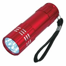 9 ULTRA BRIGHT LED POWERFUL SMALL CAMPING TORCH FLASH LIGHT LAMP LIGHTS RED!
