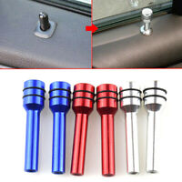 2Pcs Car Auto Interior Door Locking Lock Knob Pull Pins Cover Alloy Accessories