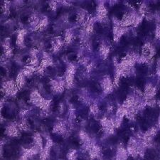 PURPLE ROSE/ROSETTE MINKY FABRIC ROSEBUD BY THE YARD BABY SOFT SWIRL