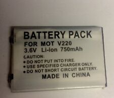 BATTERY FOR MOTOROLA V220 , 3.7V high Capacity 750mAh ,Li-ion battery pack