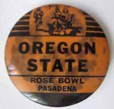 """rare version 1960s Oregon State Rose Bowl Pasadena button 1 3/4"""" button"""