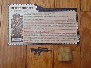 GI Joe 1985 Dusty Accessories Gun Backpack Peach Filecard