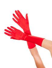 Gants et moufles rouge en satin pour femme