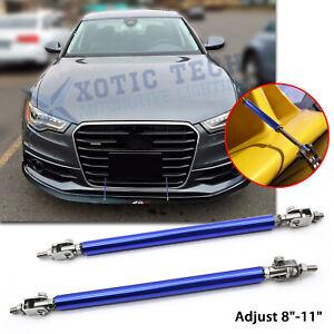 "For Audi A4 Adjust 8""-11"" Blue Bumper Stabilizer Diffuser Strut Rod Tie Lip Bars"