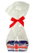10 x Mini Cadeau Panier à Kits-Union Jack en carton plateau, Violoncelle Sac & Bow