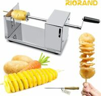 RioRand Manual Stainless Steel Twisted Potato Slicer Spiral Vegetable Cutter