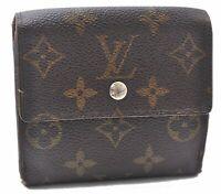 Auth Louis Vuitton Monogram Portefeuille Elise Purse Wallet M61654 LV A5684