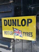 Dunlop enamel sign Dunlop Motor Tyres enamel sign Dunlop Tyres enamel sign tires