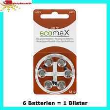 Ecomax Hörgeräte Batterie Typ 312 Pr41 braun A312 Batterien
