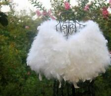 Ostrich Feather Fur wedding cape stole shawl bridal furry White pink grey black