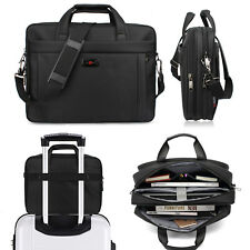 16 inch Laptop Bag, Travel Briefcase w/ Organizer Expandable Large Shoulder Bag