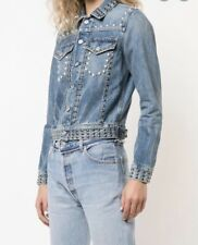NEW $578 Citizens Of Humanity Cleo Studded Jeans Jacket Size XS