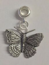 Small Butterfly Charm with 5mm Hole to fit Pendant Charm Bracelet European refC2