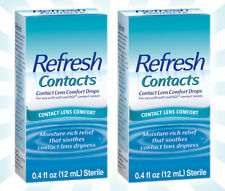 2 Refresh Contacts Contact Lens Comfort Moisture Drops for Dry Eyes 0.4 OZ