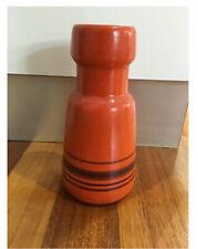 Retro Rare Mid Century Pottery Orange Vase Israel Beit Hayotser 22 Cm