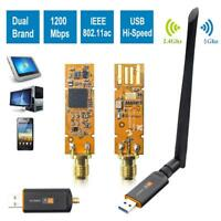 1200Mbps WiFi Dongle WLAN Stick Dual Band Wireless Adapter USB 2.4/5GHz 802.11AC