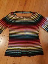 EUC Sonia Rykiel struped sweater size 44 100% cotton made in Italy