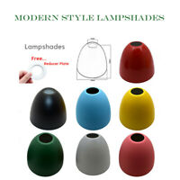 VINTAGE CEILING PENDENT LIGHTING LAMPSHADE PLAIN COLOUR METAL LAMPSHADE+REDUCER