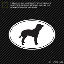 American Water Spaniel Euro Oval Sticker Die Cut Decal Vinyl dog canine pet