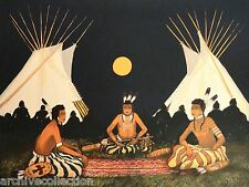 Kevin Red Star Crow Indian Council Original Serigraph