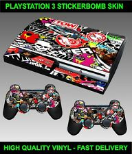 Play station 3 console Autocollant Stickerbomb peau graphique & 2 pad skins