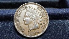 1899 INDIAN HEAD CENT IN AU (FULL LIBERTY & 4 DIA) CONDITION  D-28-17
