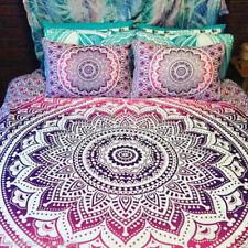 Indian Mandala Duvet Doona Cover Hippie Bohemian Queen Quilt Cover Comforter Set
