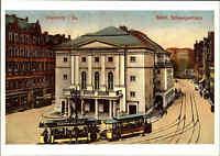 CHEMNITZ Sachsen Tram Straßenbahn passiert das Städt. Schauspielhaus Reprint-AK