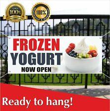 Frozen Yogurt Now Open Banner Vinyl /Mesh Banner Sign New Business Grand Opening
