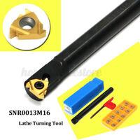 SNR0013M16 Lathe Turning Boring Bar Holder+10Pcs 16IR(3/8'')AG60 Insert  P
