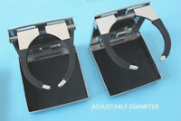 2X Marine Stainless Steel Folding Cup Drink Holder Adjustable for Boat Truck RV