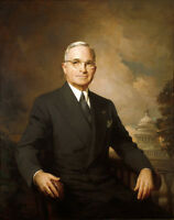 """oil painting handpainted on canvas """"Presidential portrait of Harry Truman """""""