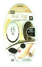PedEgg Easy Curve Foot File As Seen On TV 18-Karat Gold Plated New Damaged Box