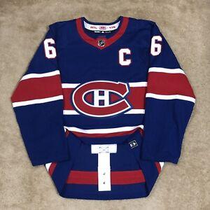 Adidas Shea Weber Montreal Canadiens Reverse Retro NHL Hockey Jersey Blue 54