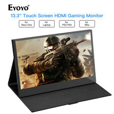 """Eyoyo 13.3"""" Inch IPS Panel 10 Point Touch Screen Monitor for PS3 PS4 Xbox One"""