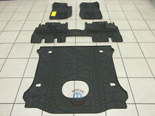 JEEP WRANGLER UNLIMITED Molded Front rear & Cargo Floor Mats NEW OEM MOPAR