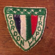 """Vintage Gordon Trophy Canadian & USA Tennis Embroidered Sew On Patch (2.75"""")"""