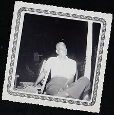 Vintage Antique Photograph African American Man Sitting in Chair in Yard