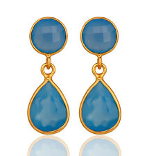 Exclusive Handmade Jewelry 18K Gold Plated Brass Awesome Drop Dangle Earrings