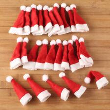 30pcs Mini Santa Claus Hats for Lollipop Christmas Holiday Decor Favor Kids Gift