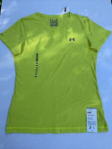 Under Armour Heat Gear Semi-Fitted Charged Cotton Size M T-Shirt Lime Green NWT