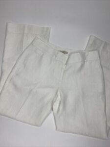 Women's Ann Taylor LOFT Petites Marisa Trouser Lined Linen Pants •Size 6P *NWT