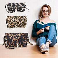 Animal Print Deer Small Cross-body Mobile Phone Shoulder Bag Pouch Handbag Purse