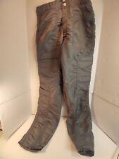*Vintage 80's Bugle Boy Countdown Grey/Olive Nylon Parachute Pants 32M