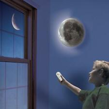 Authentically detailed 3-D Moon In My Room Remote Control Wall Night LED Light
