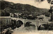 CPA  Le Cheylard - Pont du Sauzet et vue d'ensemble de la Gare  (484878)
