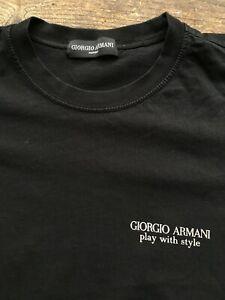 GIORGIO ARMANI MENS MMEDIUM 38-40 SHORT SLEEVED BLACK T SHIRT